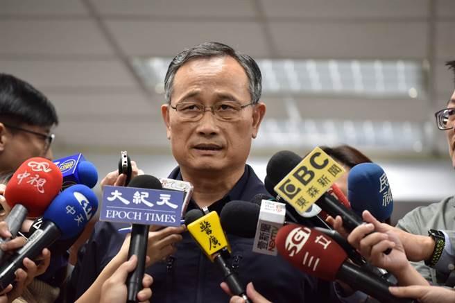 警政署長陳家欽親自出面駁斥,外就對於警方依法查假訊息是所謂的查水表,並表達嚴正立場。(戴志揚翻攝)