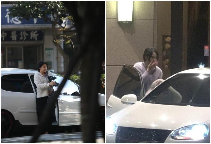 李沛旭溫馨接送嫩妹,女生下車時還送上飛吻。(時報周刊提供)