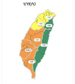 明天投票日西半部空品不良 中南部拉橘色警報