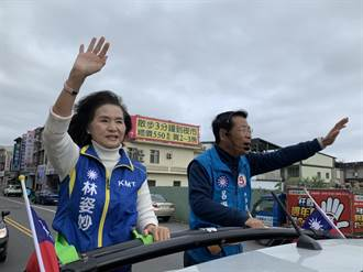 選前最後衝刺  呂國華獲林姿妙加持狂掃街