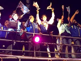 嘉義市選前之夜藍綠決戰到最嗨  外國人:這是台灣的自由民主