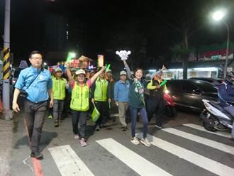 台南第四選區藍綠激戰 雙林不約而同徒步掃街