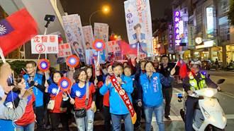 沈智慧選前之夜徒步掃街氣氛沸騰