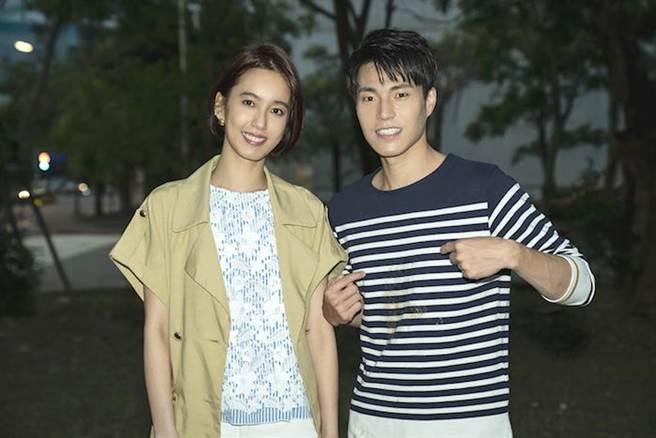 陳庭妮(左)與唐振剛對戲。TVBS提供