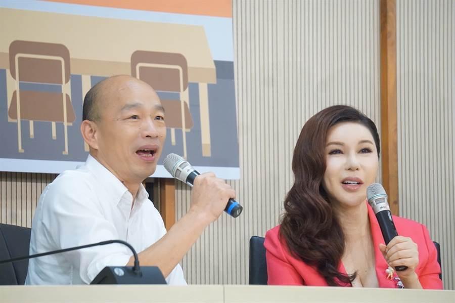 利菁昨替韓國瑜舉行造勢大會。(圖/中時資料照片)