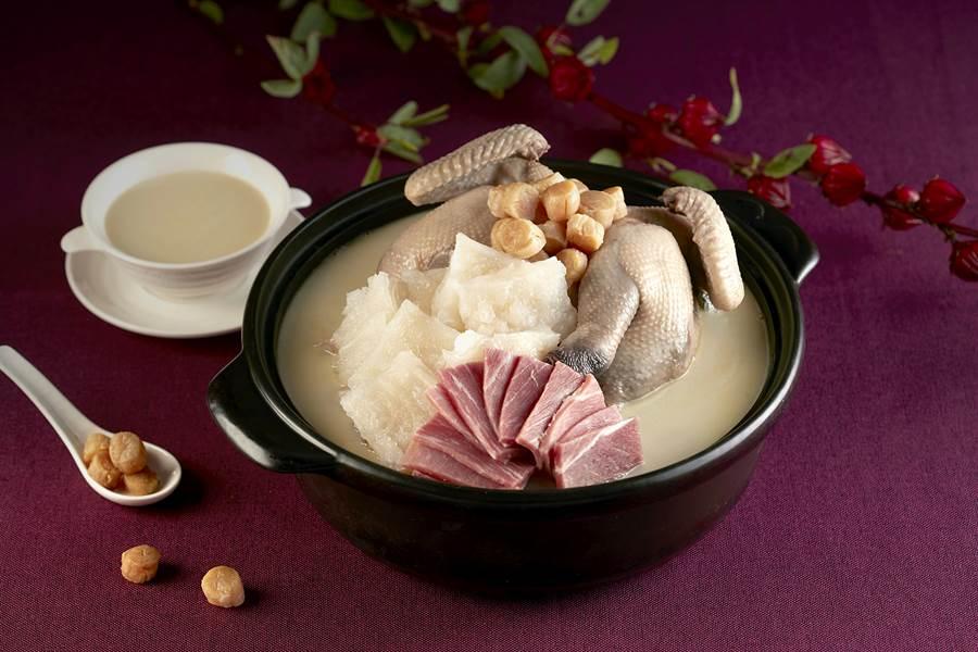 「雲腿濃湯一品雞」嚐起來馥郁香濃,溫潤暖身/圖片由遠東百貨提供