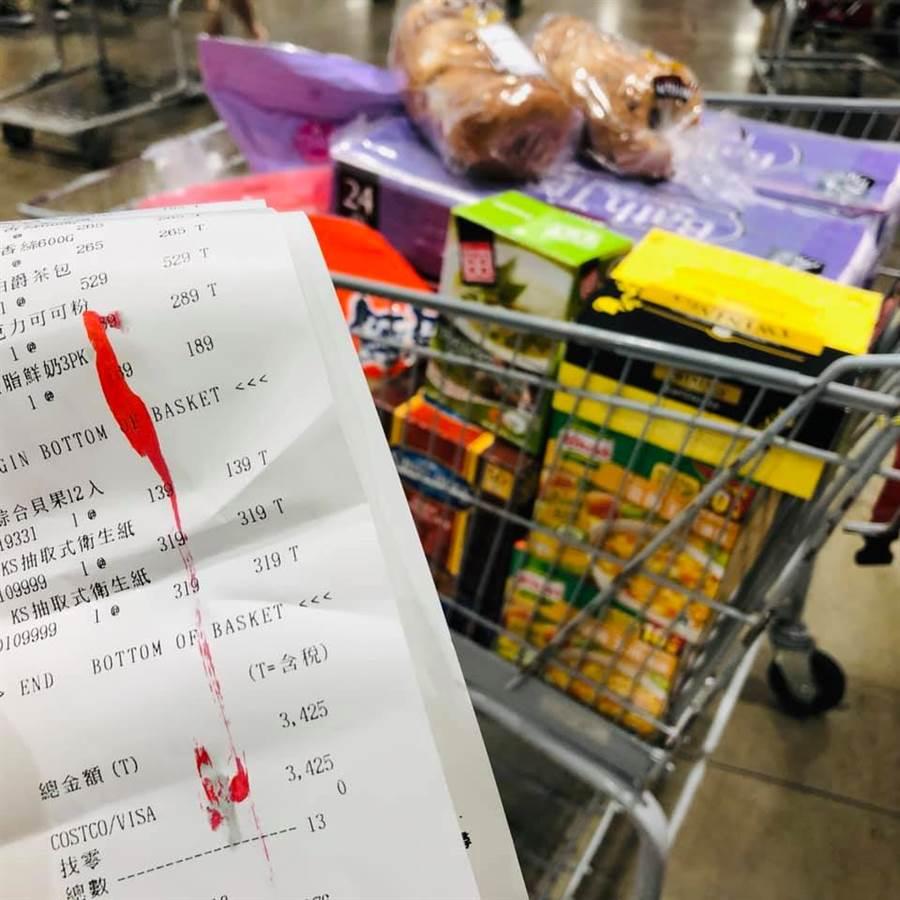 雙方說好買兩盒玉米濃湯就好,結果同事買滿整車,花了3425元 (圖/翻攝自Costco好市多 商品經驗老實說)