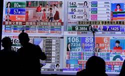 蔡競總新聞中心播放新聞台的開票即時狀況