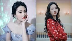 劉亦菲低胸公主裝美炸!與趙麗穎「0修圖合照」洩真實身材