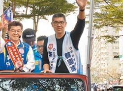 台中市第六選區 黃國書路口拜票輔選李中 連勝文批綠只剩反中這招