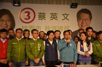 綠桃園領先3席 鄭文燦:感謝對蔡總統支持