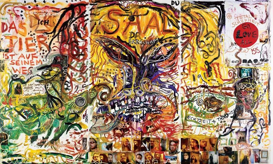 喬納森·米斯的作品有著狂放不羈的魅力。(形而上畫廊提供/李怡芸台北傳真)