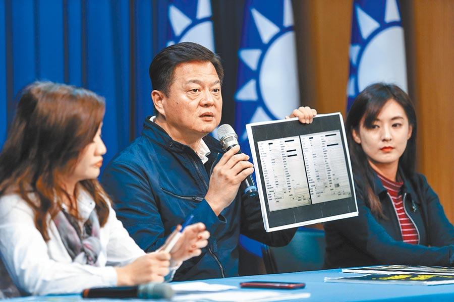 周錫瑋(中)在總統大選中積極支持韓國瑜。(本報系記者鄧博仁攝)