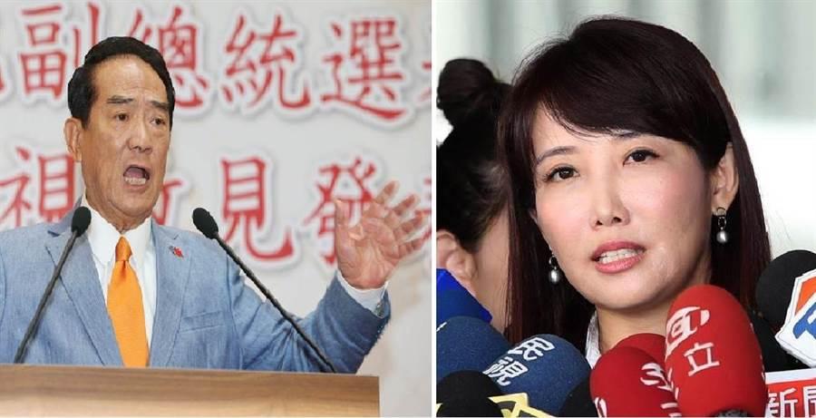 亲民党总统落选人、党主席 宋楚瑜(左)、永龄基金会副执行长蔡沁瑜(右)。(图/合成图,本报资料照)