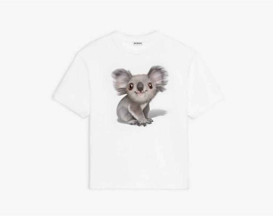 Balenciaga無尾熊T恤,1萬5200元。(Balenziaga提供)