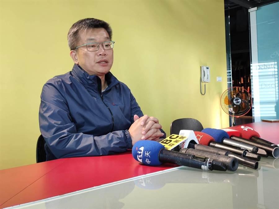 立法院長副院長蔡其昌12日開記者會表示,外傳游錫堃與他搭配立法院正、副院長,他認為是合理的推論。(張妍溱攝)