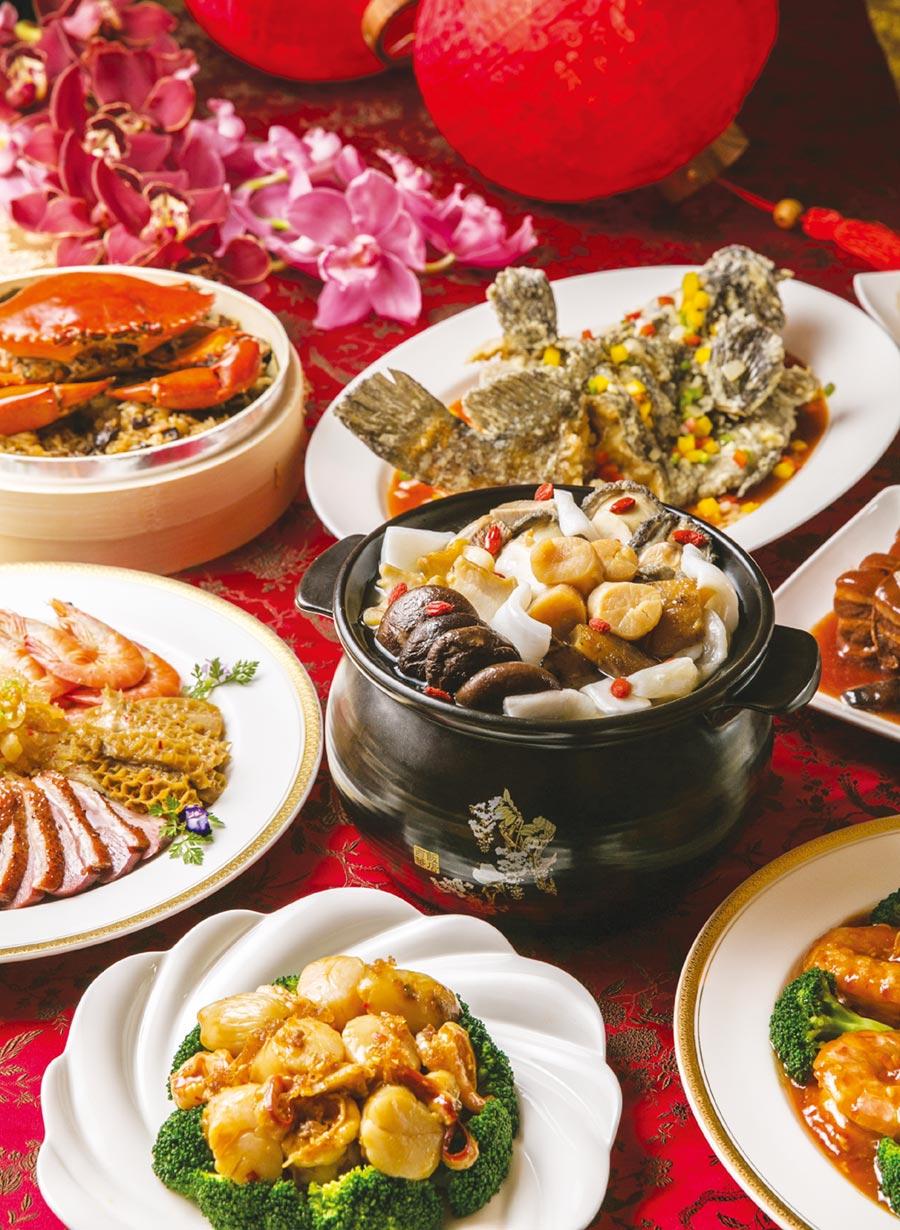 台北西華飯店的外帶常溫年菜每一道菜都是精品,建議買套餐比較划算,可購買六人份套餐12,888元。圖/業者提供