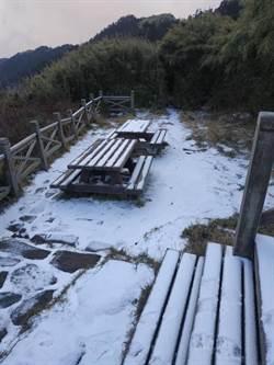 雪山369山莊迎來2020第一場雪