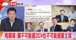 周錫瑋:韓不可能選2024也不可能選黨主席