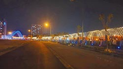 海天橋星空隧道 迎台灣燈會