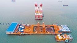 深中通道伶仃洋大橋 西索塔左幅承台澆築完成