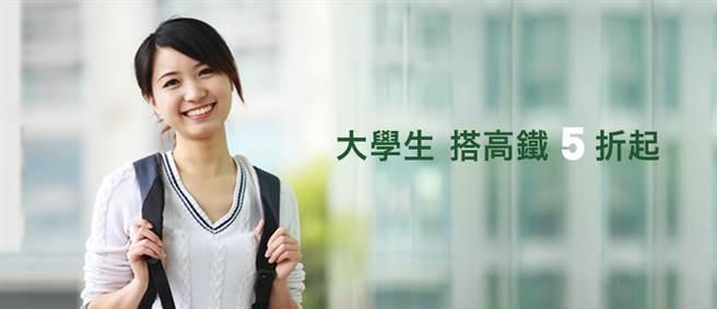 台灣高鐵今天宣布將於2月10日至2月16日間,規畫大學生開學返校五折優惠列車。(圖片取自台灣高鐵網站)