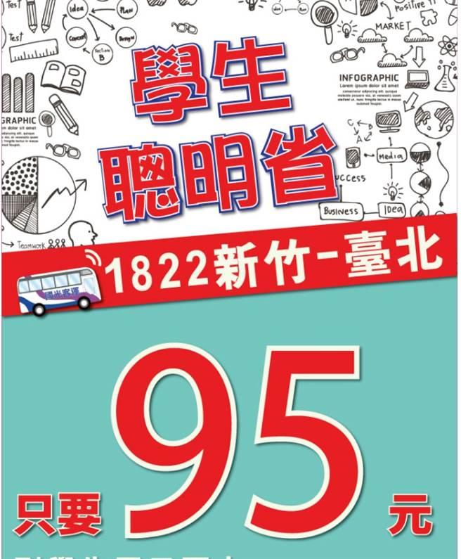 知名客運則在今年1月至3月期間也推出台北到新竹的學生電子票卡優惠價。(圖片取自國光客運網站)