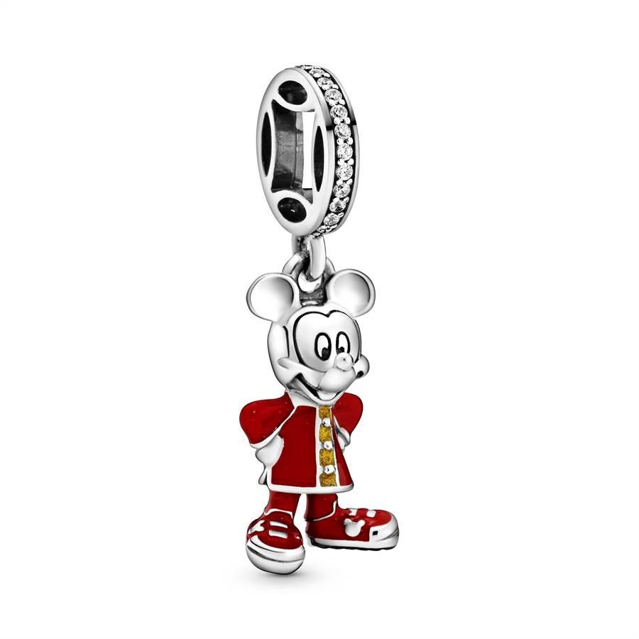 PANDORA迪士尼授權米奇賀歲拜年串飾,2880元。(PANDORA提供)