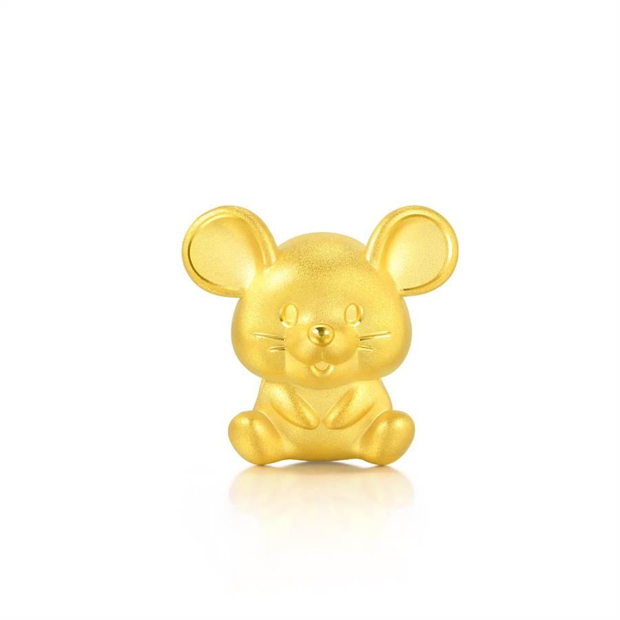 點睛品Charme可愛系列足金聰明鼠串飾,7400元。(點睛品提供)