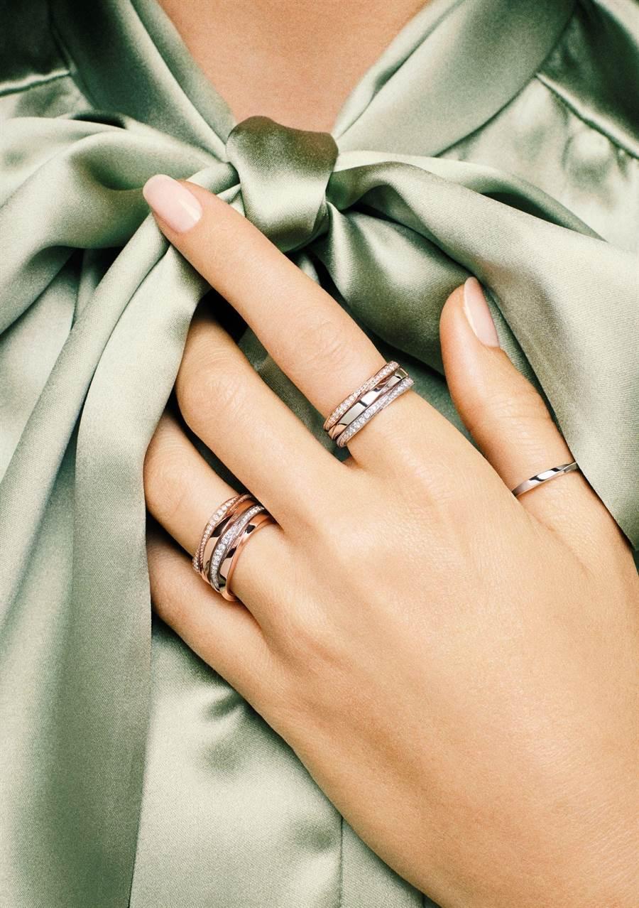 格拉夫以象徵永恆的漩渦結構美學,打造Spiral系列幸運珠寶。(GRAFF提供)