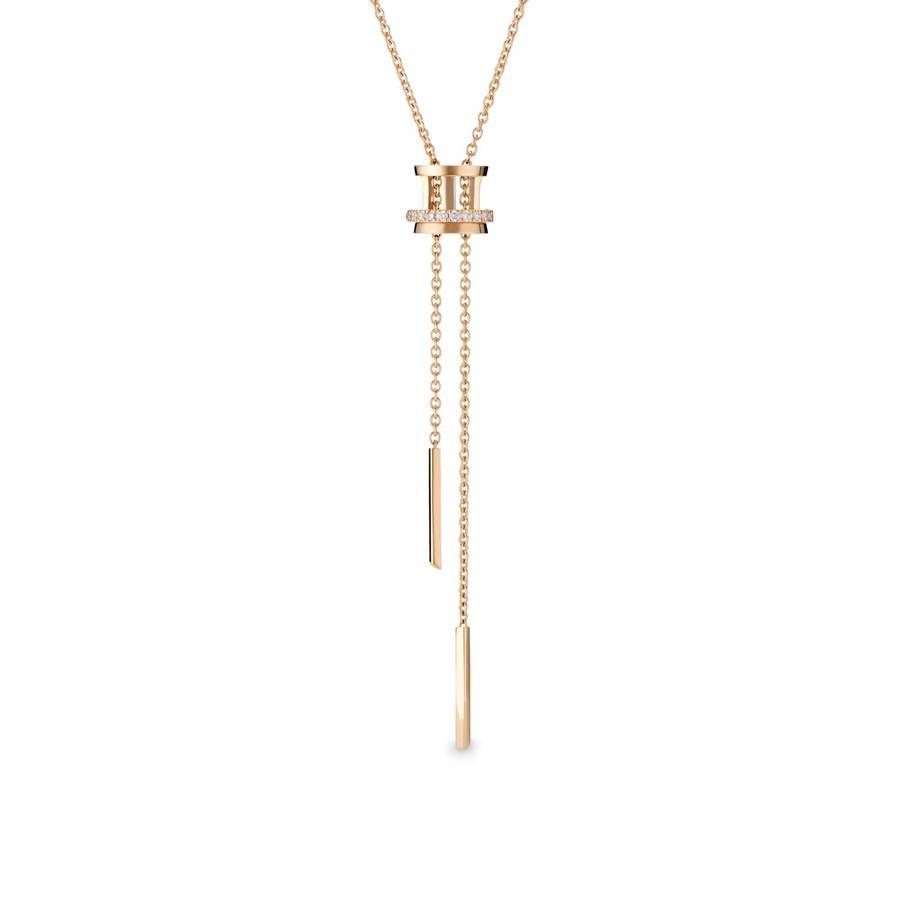 De Beers的Horizon玫瑰金鑽石項鍊,象徵美好的開始,11萬2000元。(De Beers提供)