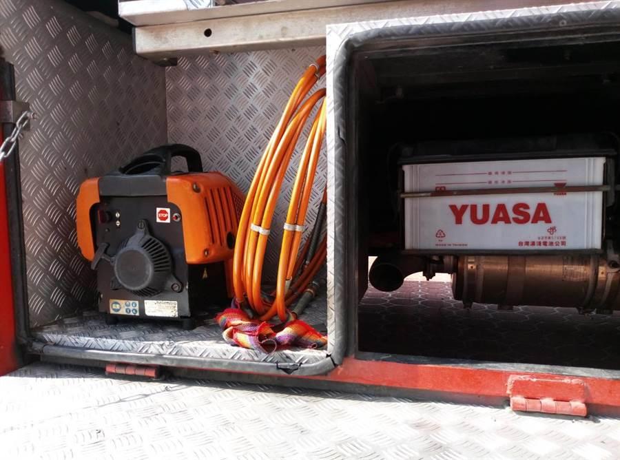 雲林縣府補助縣內消防車加裝濾煙器。(許素惠攝)