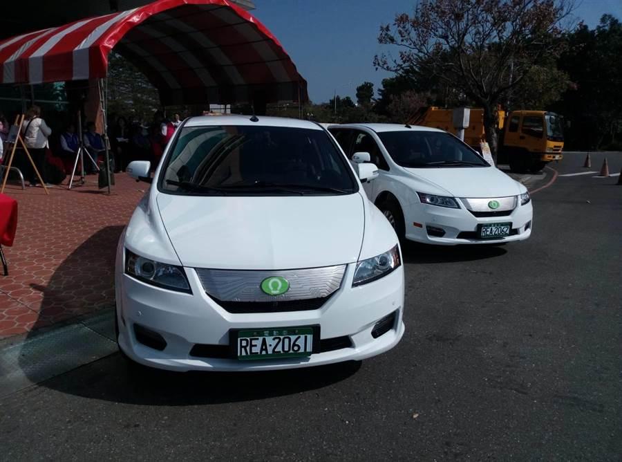 雲林縣府推廣電動車,除了機車和自行車外,還有汽車。(許素惠攝)