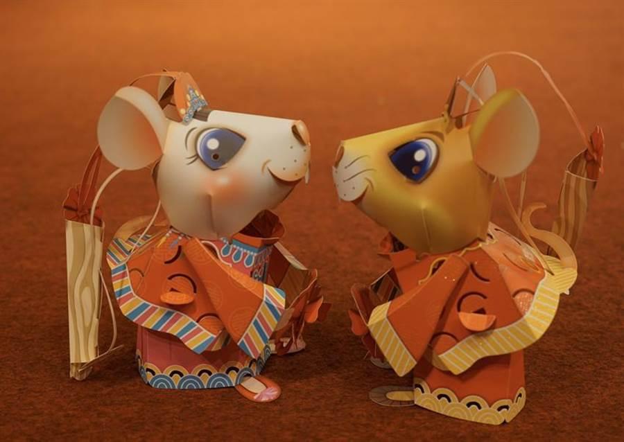 (觀光局台灣燈會發放小提燈「吉利鼠與美力鼠」。圖/觀光局提供)