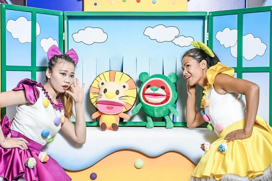 新竹喜來登推出全台首創「喜波波與喜瓜瓜手偶劇場」,陪伴民眾歡樂過新年。(新竹喜來登 提供/羅浚濱新竹傳真)