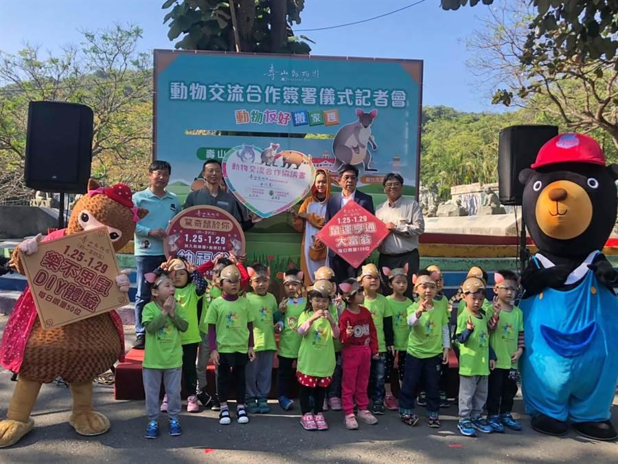 壽山動物園與新竹市立動物園、花蓮新光兆豐休閒農場進行動物交流,交換引進長鼻浣熊及絨鼠。(柯宗緯攝)