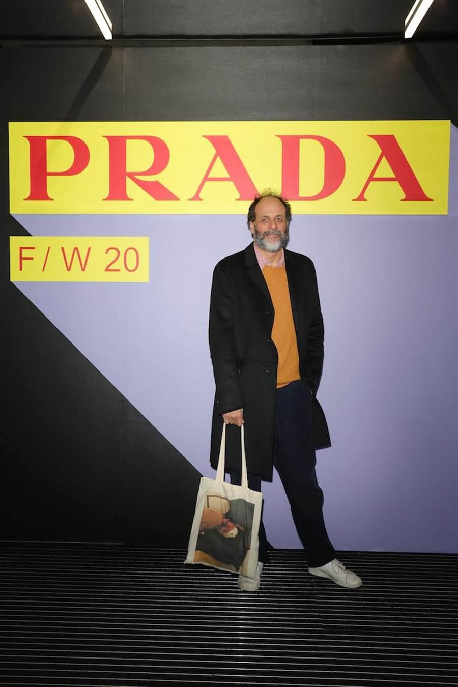 義大利導演和編劇Luca Guadagnino出席PRADA男裝秀。(PRADA提供)