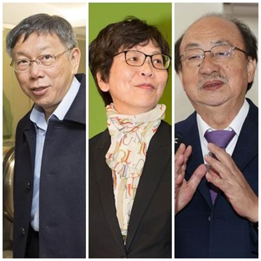柯文哲(左起)、蔡壁如、柯建銘。(圖/陳麒全、杜宜諳、王英豪)