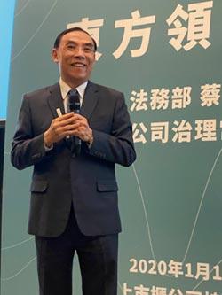 蔡清祥強調公司治理是永續工作