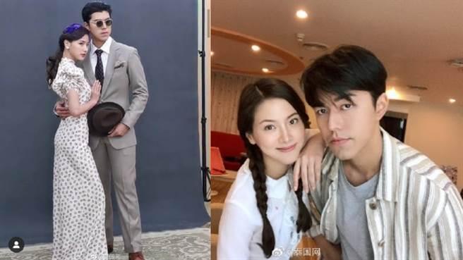 平采娜将与小生Nine合作新剧《皇家项炼》。(图/摘自微博@泰国网 )