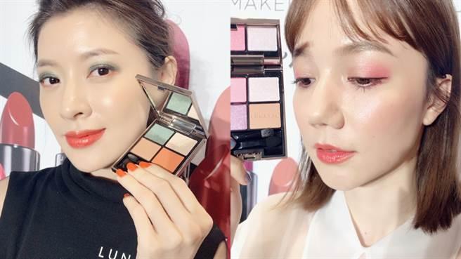 MODEL使用本次春夏彩妝完成兩種不同風格的妝容。(圖/邱映慈攝影)