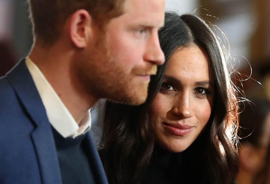 梅根與夫婿哈利王子以受害者的姿態,成功向英國王室爭取到他們想要的自由。(達志圖庫/TGP)