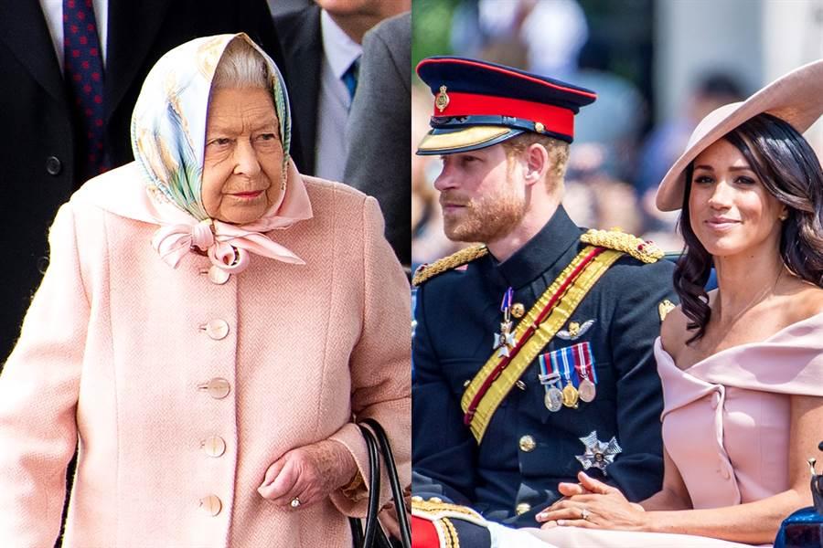哈利王子與梅根如願獲得女王伊麗莎白二世同意,可在加拿大、英國兩地居住,未來更有可能財務獨立,英國《太陽報》批評女王向哈利梅根屈服,恐鑄下任內最大錯誤。(圖/TPG、達志影像)