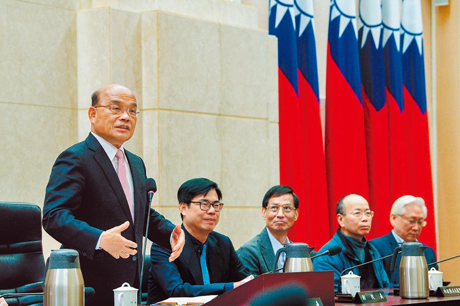 行政院長蘇貞昌13日率內閣總辭。圖/行政院提供