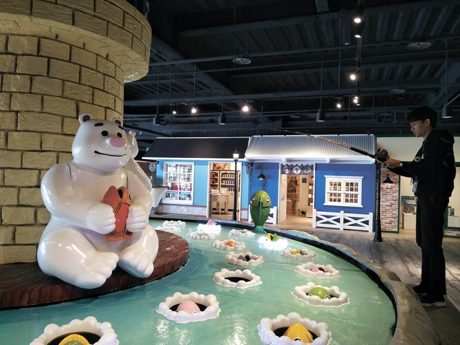 全球最大! 「全球最大釣魚機」就在台中寶熊漁樂碼頭,1月19日正式啟動用。圖/林宜蓁