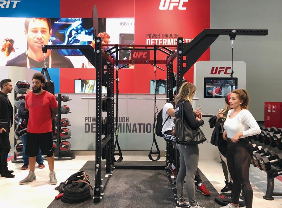 岱宇國際與全球最大綜合格鬥品牌UFC國際授權合作。圖/劉朱松