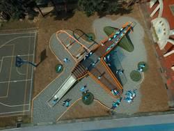 汐止白雲國小增設「飛機」特色遊具 斥資284萬