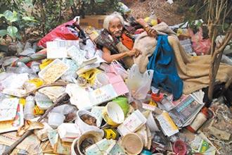 令人鼻酸 老翁棲身樹叢垃圾堆 長達23年