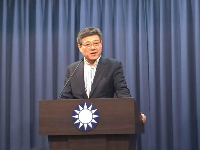 林榮德代理國民黨主席。(黃福其/攝影)