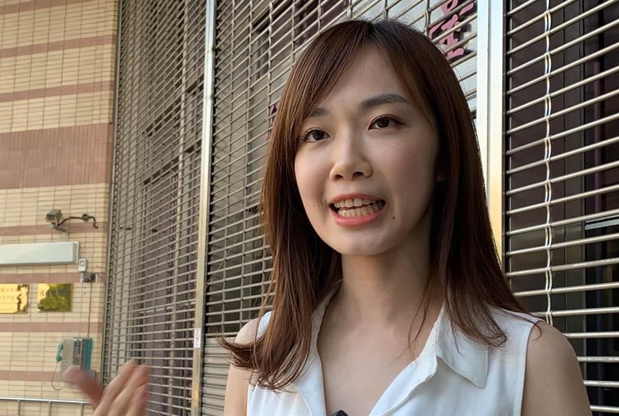 民眾黨中部美女發言人楊寶楨。(資料照 盧金足攝)